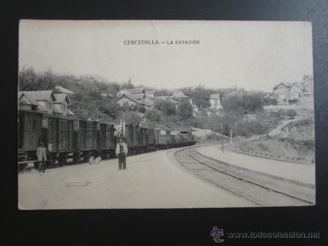 POSTAL MADRID. CERCEDILLA. LA ESTACIÓN. (Postales - España - Comunidad de Madrid Antigua (hasta 1939))