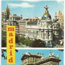 Postais: POSTAL MADRID - VARIAS VISTAS - CARRETERO 1966. Lote 51378230