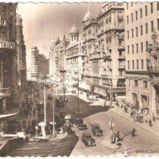 Postales: MADRID VISTA PARCIAL DE LA AVENIDA JOSÉ ANTONIO 1955. Lote 51403951