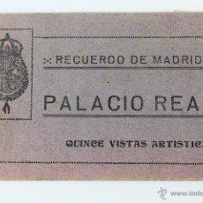 Postales: P-2544. PALACIO REAL.- QUINCE VISTAS ARTISTICAS. RECUERDO DE MADRID.GRAFOS. AÑOS 20.. Lote 51477364