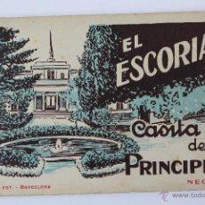 Postales: P-2545. EL ESCORIAL. CASITA DEL PRINCIPE. NEGRO. L. ROISIN. BARCELONA. AÑOS VEINTE. 20 POSTALES.. Lote 51477468