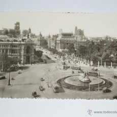 Postales: ANTIGUA FOTO POSTAL DE MADRID. LA CIBELES, BANCO DE ESPAÑA Y ALCALÁ. SIN CIRCULAR. Lote 51584168