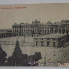 Postales: ANTIGUA POSTAL DE MADRID, PALACIO REAL - DE LABORATORIOS CLIMENT Y CIA, TORTOSA. Lote 51794303