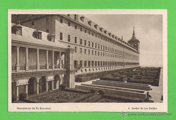 TARJETA POSTAL - MONASTERIO DEL ESCORIAL: JARDÍN DE LOS FRAILES - SIN CIRCULAR. (Postales - España - Comunidad de Madrid Antigua (hasta 1939))