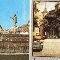 Postales: MADRID FUENTE DE NEPTUNO DE 1971 Y EL OSO Y EL MADROÑO PUERTA DEL SOL 1988. Lote 52319385