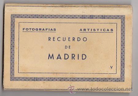 BLOC POSTAL FOTOGRAFIAS ARTISTICAS RECUERDO DE MADRID. EDICIONES DOMINGUEZ. AÑOS 40 (Postales - España - Madrid Moderna (desde 1940))