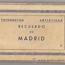 Postales: BLOC POSTAL FOTOGRAFIAS ARTISTICAS RECUERDO DE MADRID. EDICIONES DOMINGUEZ. AÑOS 40. Lote 52369676