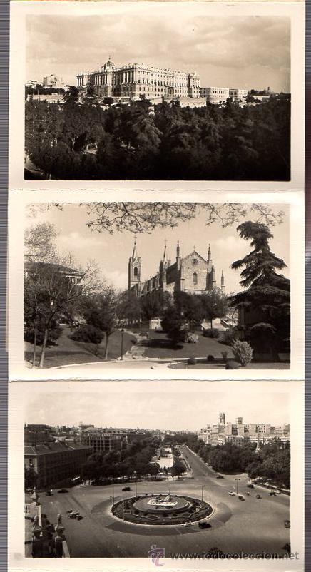 Postales: BLOC POSTAL FOTOGRAFIAS ARTISTICAS RECUERDO DE MADRID. EDICIONES DOMINGUEZ. AÑOS 40 - Foto 2 - 52369676