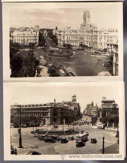 Postales: BLOC POSTAL FOTOGRAFIAS ARTISTICAS RECUERDO DE MADRID. EDICIONES DOMINGUEZ. AÑOS 40 - Foto 4 - 52369676