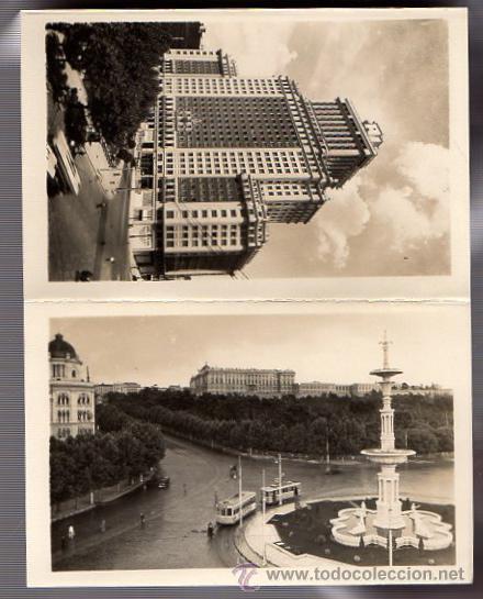 Postales: BLOC POSTAL FOTOGRAFIAS ARTISTICAS RECUERDO DE MADRID. EDICIONES DOMINGUEZ. AÑOS 40 - Foto 5 - 52369676