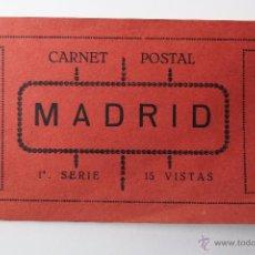 Postales: BP-46. MADRID. CARNET POSTAL. 1ª SERIE. 15 VISTAS. GRAFOS. COMPLETO.. Lote 52434562