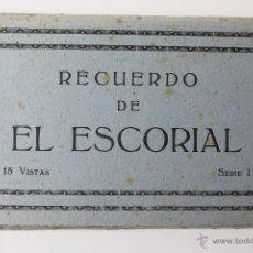 Postales: BP- 49. EL ESCORIAL. BLOC CON 15 VISTAS EN ACORDEON. SERIE 1. EDITOR M. ARRIBAS. ZARAGOZA.. Lote 52435505