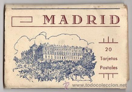 BLOC POSTAL MADRID. 20 TARJETAS POSTALES. HUECOGRABADO HAUSER Y MENET (Postales - España - Comunidad de Madrid Antigua (hasta 1939))