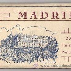 Postales: BLOC POSTAL MADRID. 20 TARJETAS POSTALES. HUECOGRABADO HAUSER Y MENET. Lote 52539049