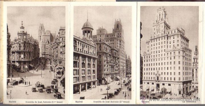 Postales: BLOC POSTAL MADRID. 20 TARJETAS POSTALES. HUECOGRABADO HAUSER Y MENET - Foto 2 - 52539049