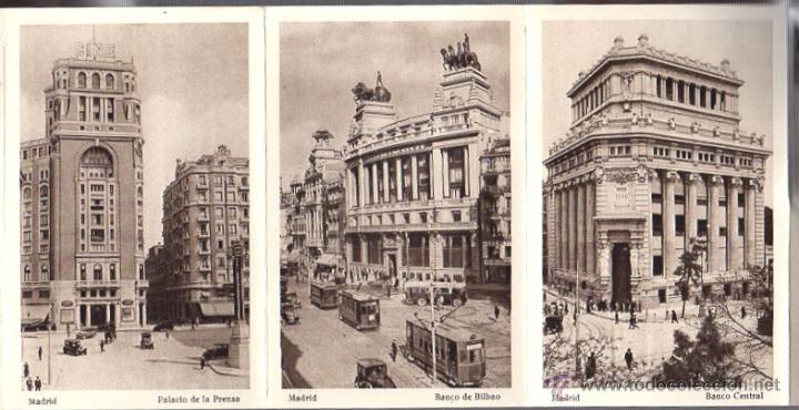 Postales: BLOC POSTAL MADRID. 20 TARJETAS POSTALES. HUECOGRABADO HAUSER Y MENET - Foto 3 - 52539049