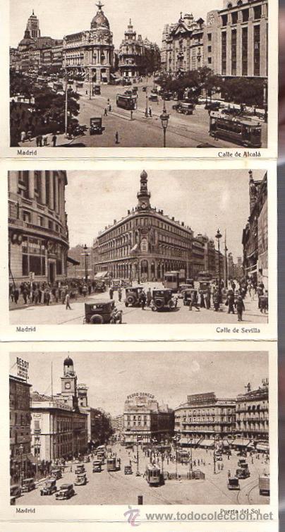 Postales: BLOC POSTAL MADRID. 20 TARJETAS POSTALES. HUECOGRABADO HAUSER Y MENET - Foto 4 - 52539049
