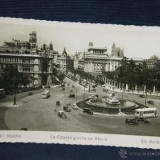 Postales: POSTAL MADRID 109 LA CIBELES Y CALLE ALCALA ED. ARRIBAS. Lote 52619571