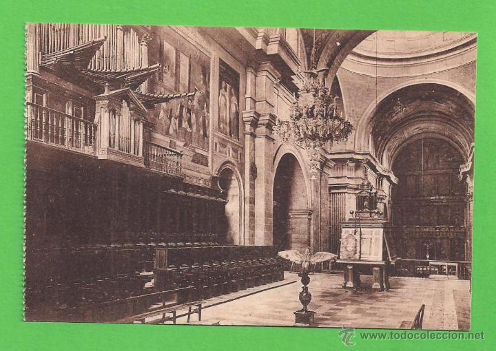 TARJETA POSTAL - EL CORO, EL ESCORIAL - SIN CIRCULAR. (Postales - España - Comunidad de Madrid Antigua (hasta 1939))