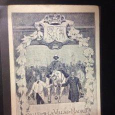 Postales: AYUNTAMIENTO DE MADRID - SALUDO HUSARES VUELVEN DE LA GUERRA... 1910 -REVERSO SIN DIVIDIR-(38848). Lote 52867519
