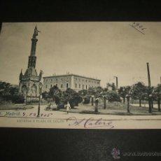 Postales: MADRID ESTATUA Y PLAZA DE COLON. Lote 52923951