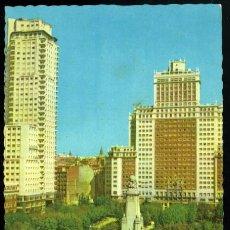 Postales: Nº 14 MADRID. PLAZA DE ESPAÑA. EDICIONES RAKER. SALVADOR BARRUECO. A. G. N. FÁBREGAS.. Lote 52941982