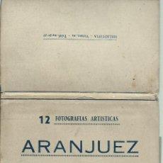 Postales: BLOC DE 12 FOTOGRAFIAS ARTISTICAS DE LA -CASITA DEL LABRADOR - ARANJUEZ- HELIOTIPIA - VIRATO. Lote 52952216