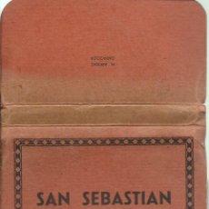 Postales: BLOC DE 16 FOTOGRAFIAS ARTISTICAS DE SAN SEBASTIAN - FOTO ARRIBAS - ZARAGOZA. Lote 52952312
