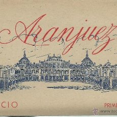 Postales: BLOC DE 12 POSTALES - PALACIO ARANJUEZ - PRIMERA SERIE. Lote 52952473