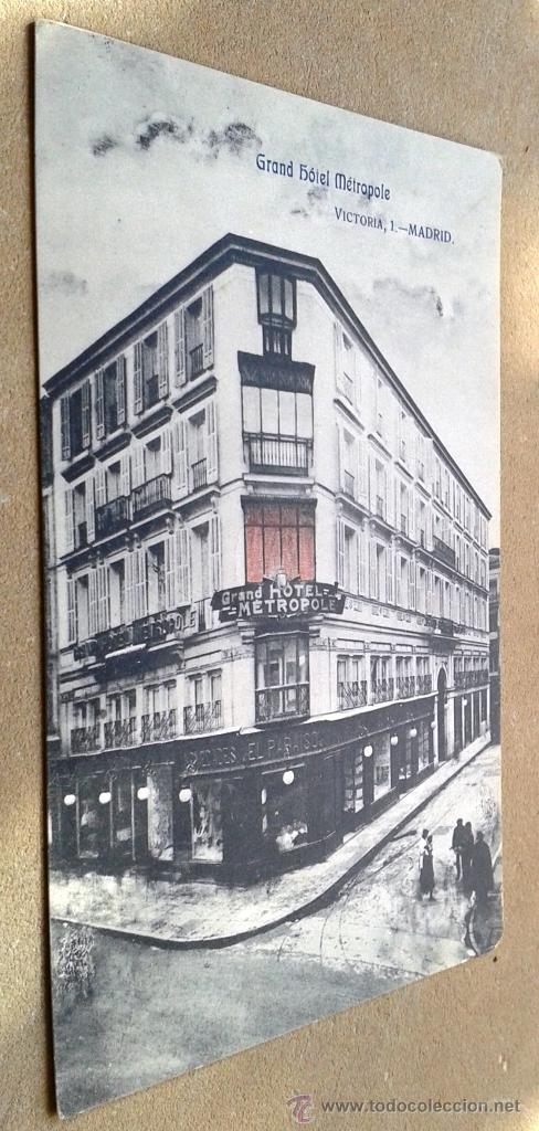 POSTAL ANTIGUA MADRID. GRAND HOTEL METROPOLE. (Postales - España - Comunidad de Madrid Antigua (hasta 1939))