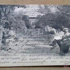 Postales: POSTAL ANTIGUA MADRID. LOECHES. KIOSCO DE LA FUENTE. CIRCULADA. DORSO SIN DIVIDIR.. Lote 52955253