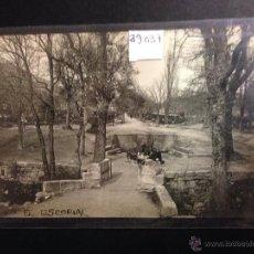 Postales: EL ESCORIAL - FUENTE DEL SEMINARIO - FOTOGRAFICA - (39037). Lote 52978272