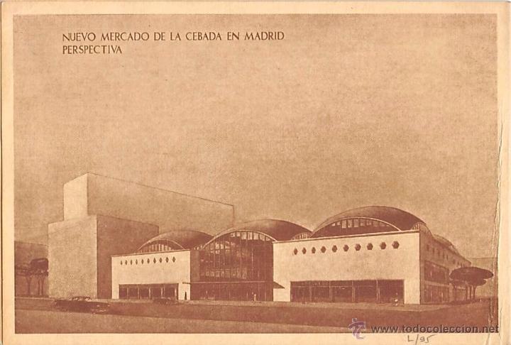Postales: MADRID.- NUEVO MERCADO DE LA CEBADA- - Foto 3 - 286405668