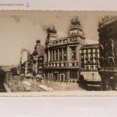 Postales: POSTAL MADRID BANCO DE BILBAO Y CALLE ALCALÁ. SIN USO.. Lote 53576393