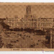 Postales: MADRID. CIBELES Y CASA DE CORREOS. TRANVÍAS.. Lote 53731527