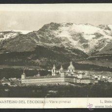 Postales: POSTAL MADRID - MONASTERIO DEL ESCORIAL - AÑOS 50 - VISTA GENERAL - FOTO DE L. ROISIN. Lote 53780598