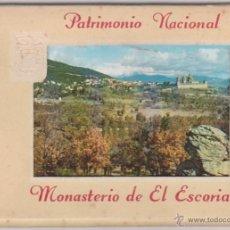 Postales: BLOQUE 10 POSTALES MONASTERIO DE EL ESCORIAL - PATRIMONIO NACIONAL - GARCIA GARRABELLA - 1959 - ARTE. Lote 54284823