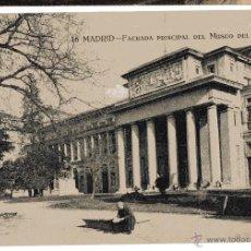 Postales: MADRID. FACHADA MUSEO DEL PRADO. ANIMADA. GRAFOS. SIN CIRCULAR. Lote 54469227