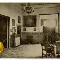 Postales: POSTAL EL ESCORIAL PALACIO HABITACION DE FELIPE II . Lote 54594379
