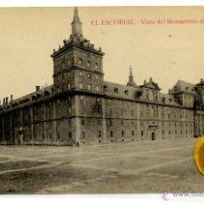 Postales: POSTAL EL ESCORIAL VISTA DEL MONASTERIO DESDE LA LONJA. Lote 54594483