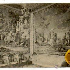 Postales: POSTAL EL ESCORIAL PALACIO ESCENAS DE CAZA DE WOUWERMAN. Lote 54594555