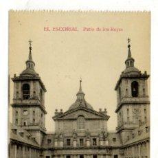 Postales: POSTAL EL ESCORIAL PATIO DE LOS REYES. Lote 54594625