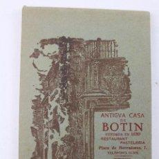 Postales: BP-57. ANTIGUA CASA DE BOTIN. ALBUM DE 11 POSTALES, E HISTORIA. AÑO 1920. Lote 54673187