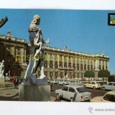 Postales: EM0316 MADRID - PLAZA DE ORIENTE 1967 - ESCUDO DE ORO Nº40 - SEAT 850 600 RENAULT 8. Lote 54719865