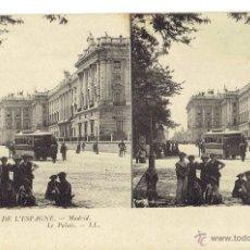 Postales: PS5889 MADRID 'EL PALACIO'. ESTEROSCÓPICA. LL. SIN CIRCULAR. PRINC. S. XX. Lote 51556974