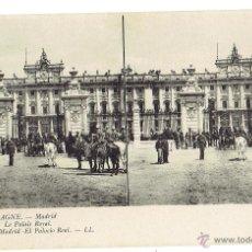 Postales: PS5893 MADRID 'EL PALACIO REAL'. ESTEROSCÓPICA. LL. SIN CIRCULAR. PRINC. S. XX. Lote 51557429