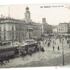 Postales: PS5745 MADRID 'PUERTA DEL SOL'. J. LACOSTE. CIRCULADA EN 1910. Lote 48280844