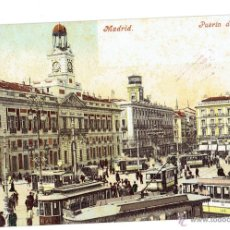 Postales: PS5759 MADRID 'PUERTA DEL SOL'. PURGER AND CO. SIN CIRCULAR. PRINC. S. XX. Lote 48338588