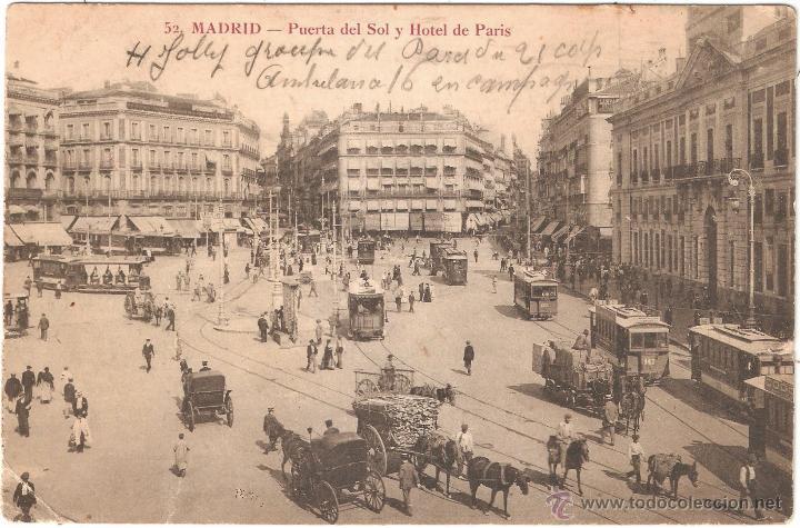 madrid puerta del sol y hotel paris 1914 comprar