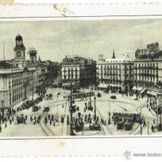 Postales: PS6427 MADRID 'PUERTA DEL SOL'. ED. GARCÍA GARRABELLA. CIRCULADA. 1947. Lote 54941056